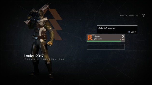 Destiny Beta My Character